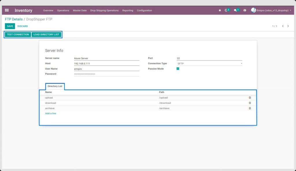 Dropship EDI Configuration for Suppliers