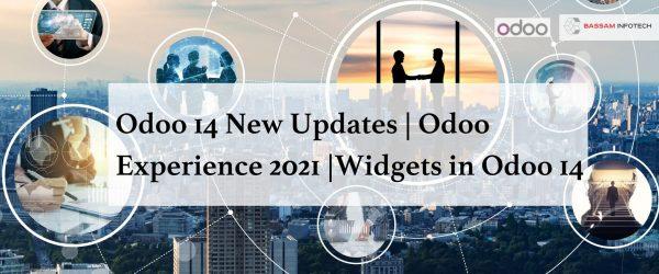 Odoo 14 New Updates   Odoo Experience 2021   Widgets in Odoo 14